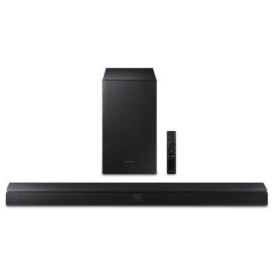 Soundbar Samsung HW-T555 320W, com 2.1 canais, Bluetooth, Subwoofer Sem Fio e DTS Virtual:X - HW-T555/ZD