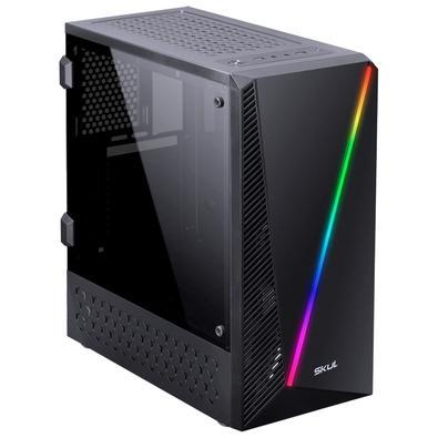 PC Gamer Skul 5000 Ryzen 5 2400G, 16GB, SSD 240GB e HD 1TB, Fonte 550W, Linux Ubuntu - 107468