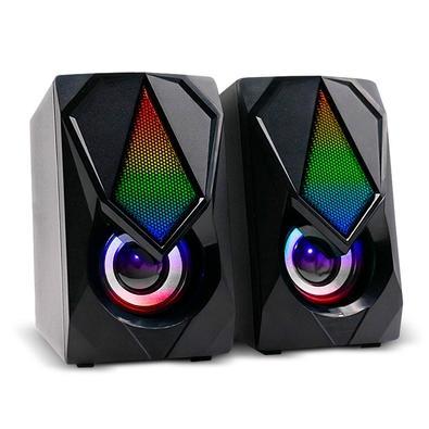 Caixa de Som Gamer Multilaser, Audio 2.0, 12W RMS, RGB, USB/P2, Plug And Play, Preto- SP951