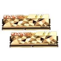 Memória G.Skill Trident Z Royal Elite, RGB, 32GB (2x16GB), 3600MHz, DDR4, CL14, Dourada - F4-3600C14D-32GTEGA