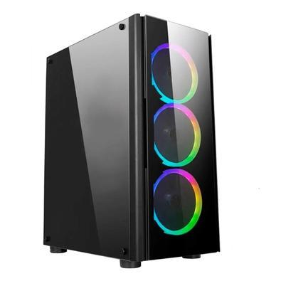 PC Gamer NTC Vulcano X Powered By Asus AMD Ryzen 5 5600X, NVIDIA Geforce GTX 1650, 16GB RAM, SSD 480GB, RGB, Linux, Preto - 7303