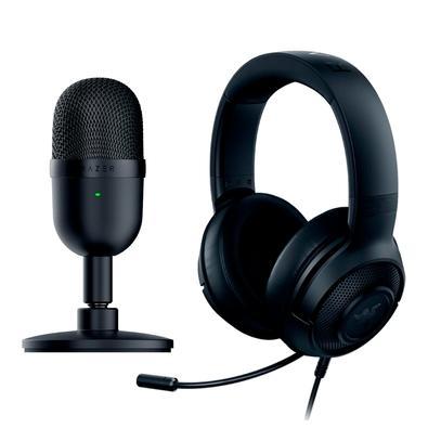 Kit Microfone Razer Seiren Mini + Headset Gamer Razer Kraken X Lite