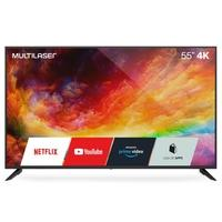 Smart TV 55 4K UHD Multilaser, HDMI, USB, Wifi, HDR10, Dolby Audio, Conversor Digital, Preto - TL025