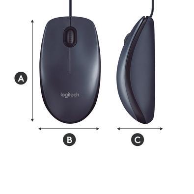 Mouse Logitech M90 Preto 1000DPI - 910-004053