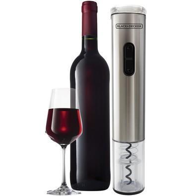 Abridor de Vinhos à Pilha Black Decker Wine Inox