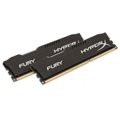 Memória Kingston HyperX FURY 8GB (2x4GB) 1600Mhz DDR3 CL10 Black Series - HX316C10FBK2/8