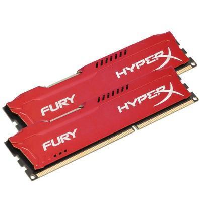 Memória HyperX Fury, 8GB (2x4GB), 1866MHz, DDR3, CL10, Vermelho - HX318C10FRK2/8