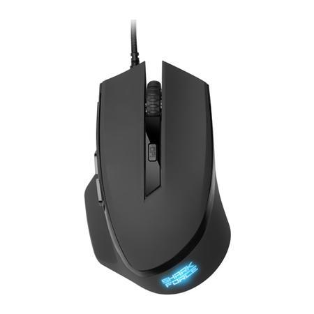 Mouse Sharkoon Gamer Shark Force 6 Botões 1600 DPI 4000 FPS Óptico Preto
