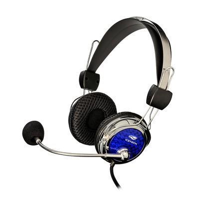 Headset C3 Tech Pterodax Prata/Azul- MI-2322RC
