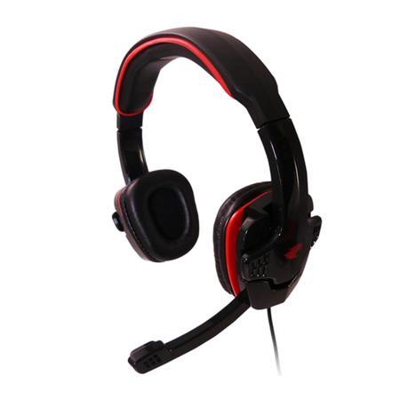 Headset G-fire com Controle de Volume Preto/Vermelho EPH501
