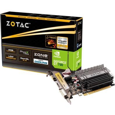 Placa de Vídeo Zotac NVIDIA GeForce GT 730 2GB Zone, DDR3 - ZT-71113-20L