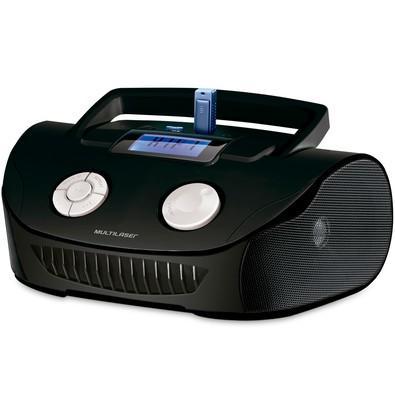Rádio Portátil Multilaser - MP3, SD, USB, Aux. e FM 15W RMS Preto - SP182