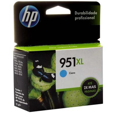 Cartucho de Tinta HP Officejet 951 XL Ciano CN046AB