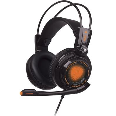 Headset Gamer Oex Extremor 7.1 Vibration HS-400 Black
