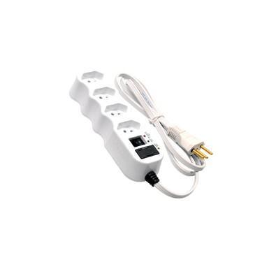 Filtro de Linha Ilumi com 4 Tomadas, 250V 1500VA, Branco - 34002