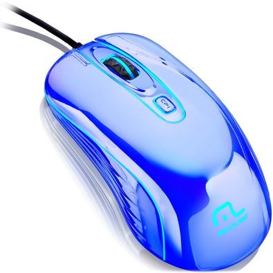 Mouse Gamer Warrior Chrome Led USB Cromado - MO228