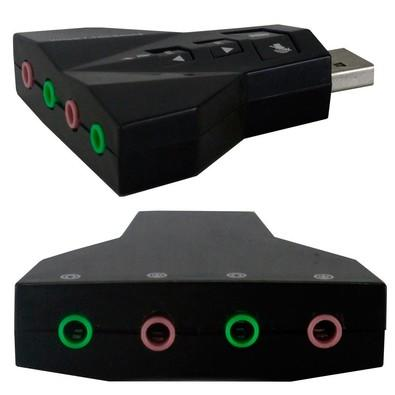 Adaptador de Som USB Virtual 7.1 Canais - PD560 COV.786