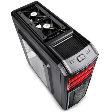 Gabinete DeepCool Kendomen Red ATX/MICRO-ATX/MINI-ITX sem Fonte KDM5FBKRD