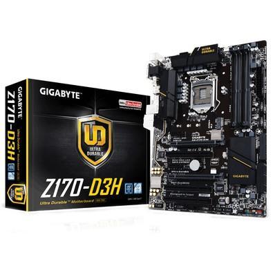 Placa-Mãe GIGABYTE p/ Intel LGA 1151 ATX GA-Z170-D3H DDR4