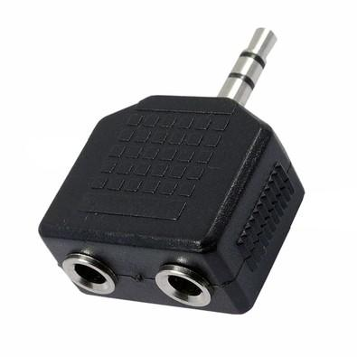 Adaptador MD9 Plug 2P2 Fêmea P/1 P2 Macho Estéreo 4561
