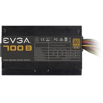 Fonte EVGA 700W 80 Plus Bronze 100-B1-0700-K