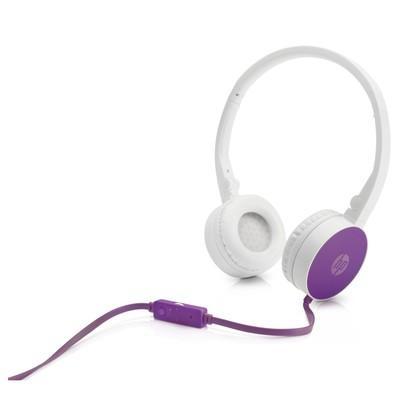 Headphone Dobrável HP H2800 Com Microfone Roxo