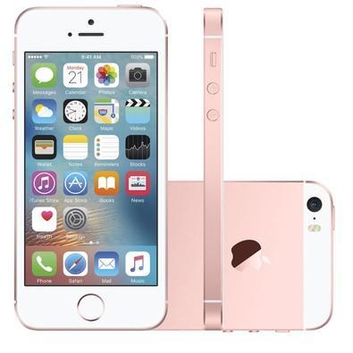 Apple Iphone Se, Chip A9, Ios 9, Tela 4´, 16gb, Câmera 12mp, 4g, Desbloqueado Mlxn2 - Rose