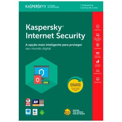 Kaspersky Internet Security 2018 Multidispositivos 1 PC - Digital para Download