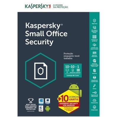 Kaspersky Small Office Security Multidispositivos 10 PCs + 10 Mobile + 1 Server - Digital para Download