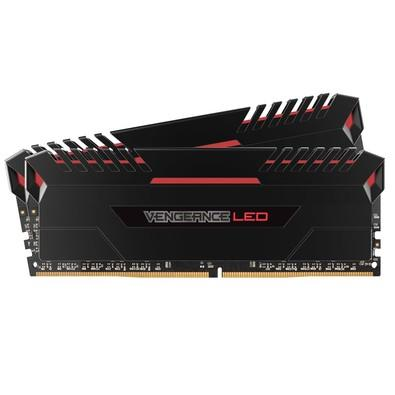 Memória Corsair Vengeance LED 16GB (2x8GB) 3000Mhz DDR4 CL15 Red - CMU16GX4M2C3000C15R