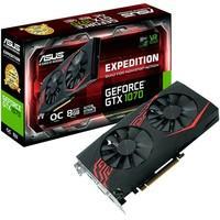 Placa de Vídeo VGA Asus NVIDIA GeForce GTX 1070 8GB, DVI, HDMI, DP - EX-GTX1070-O8G