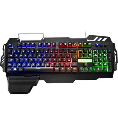 Teclado Semi Mecânico Gamer Warrior LED, ABNT2 - TC210