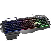 Teclado Semi Mecânico Gamer Warrior LED, ABNT2 - TC210