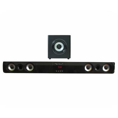 Soundbar Subwoofer  K-Mex SR-M1G3 2 canais Stéreo Amplificados Preto
