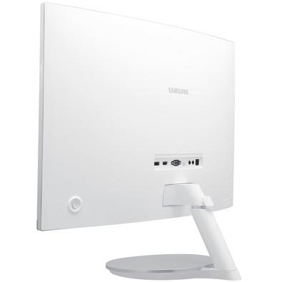 Monitor Samsung LED 27´ Widescreen Curvo, HDMI/VGA/Display Port, FreeSync, Som Integrado, Branco - LC27F591FDLXZD