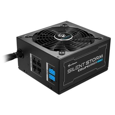 Fonte Sharkoon 650W 80 Plus Bronze Semi Modular SilentStorm Icewind Black