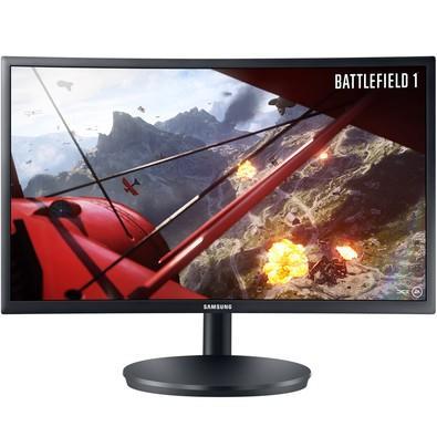 Monitor Gamer Samsung LED 24´ Widescreen Curvo, Full HD, HDMI/Display Port, FreeSync, 144Hz, 1ms - LC24FG70FQLXZD