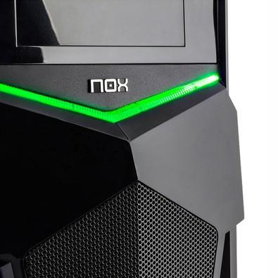 Gabinete NOX PAX Midtower, LED Verde, 1 FAN Incluso - NXPAXG