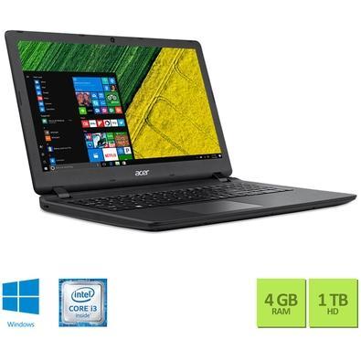 Notebook Acer Intel Core i3-6006U, 4GB, 1TB, DDR4, 15.6´, Preto, Windows 10 - ES1-572-3562
