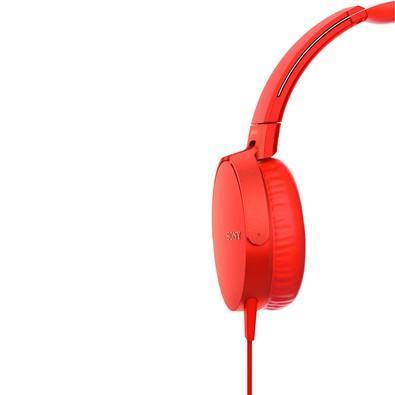 Headphone Sony Vermelho MDRXB550AP/R