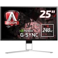 Monitor Gamer AOC LED 25´ Widescreen, Full HD, HDMI/Display Port, GSync, 240Hz, 1ms, Altura Ajustável - AG251FG