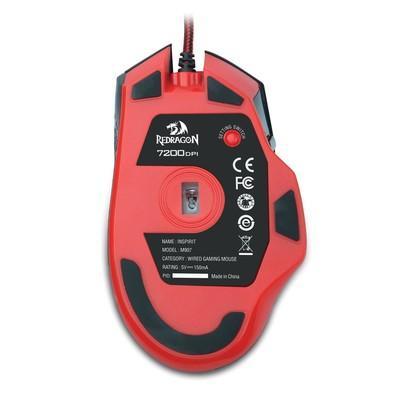 Mouse Gamer Redragon M907 Inspirit 14400DPI 9 Botões RGB