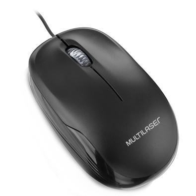 Mouse Multilaser 1200DPI USB Preto - MO255