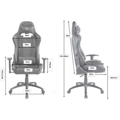 Cadeira Gamer Husky HailStorm, Black White - HHA-BW
