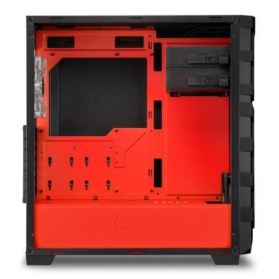Gabinete Sharkoon SKILLER SGC1 Window - Red