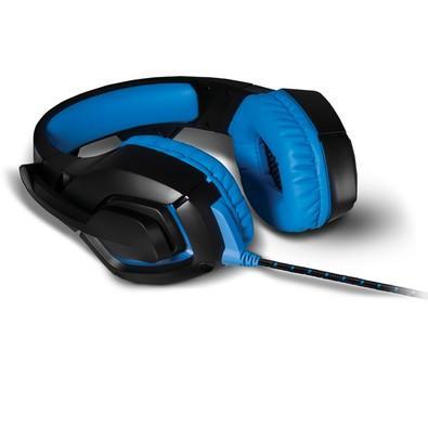 Headset Gamer Warrior 2.0 com LED USB Preto e Azul - PH244