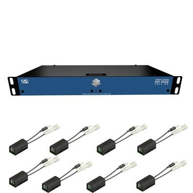 Kit Power Coaxial Onix Security HD 3000 - 08 Ch c/ Mini Rack 05´U Acrilico 4012