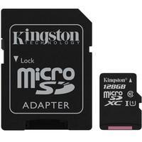 Cartão de Memória Kingston Canvas Select MicroSD 128GB Classe 10 com Adaptador - SDCS/128GB