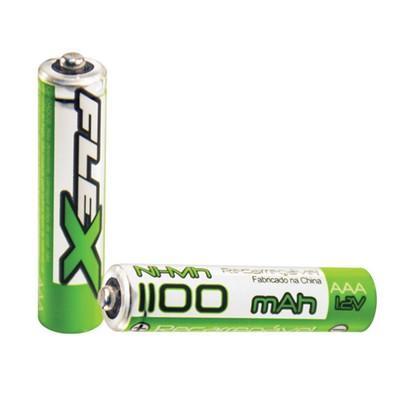 Pilha Recarregável FLEX GOLD AAA 1100 mAh Blister com 2 unidades - 7934