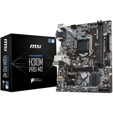 Placa-Mãe MSI p/ Intel LGA 1151 mATX H310M PRO-M2 DDR4